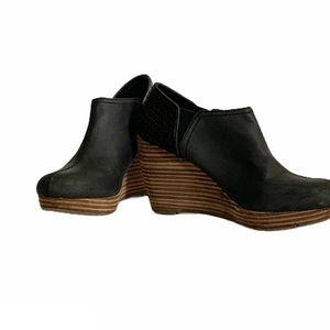 Dr. Scholl's Black Wedge Booties Size 7